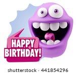 3d rendering smile character... | Shutterstock . vector #441854296