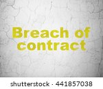 law concept  yellow breach of... | Shutterstock . vector #441857038
