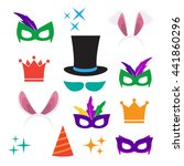 party birthday photo booth... | Shutterstock .eps vector #441860296