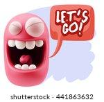 3d rendering smile character...   Shutterstock . vector #441863632