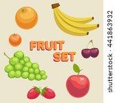 fruit set | Shutterstock .eps vector #441863932