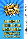 pop art comics styled alphabet. ... | Shutterstock .eps vector #441874792