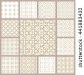 seamless line patterns set.... | Shutterstock .eps vector #441883432