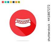 vector illustration of hot dog... | Shutterstock .eps vector #441887272