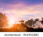 Silhouette Of Heavy Machinery...