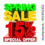 spring sale 15   off special... | Shutterstock . vector #441902302