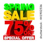 spring sale 75   off special... | Shutterstock . vector #441902536