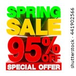spring sale 95   off special... | Shutterstock . vector #441902566