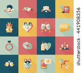valentine's day icons set | Shutterstock .eps vector #441908356