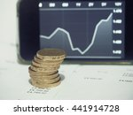 pound coins with increasing... | Shutterstock . vector #441914728