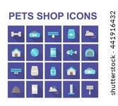 pets shop icons. vector...   Shutterstock .eps vector #441916432