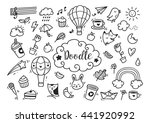 set of cute hand drawn doodle | Shutterstock . vector #441920992
