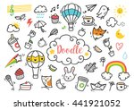 set of cute hand drawn doodle | Shutterstock . vector #441921052