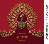 wedding invitation or card with ... | Shutterstock .eps vector #441924235