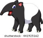 funny tapir cartoon smiling   Shutterstock .eps vector #441925162