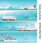 infographic of industrial... | Shutterstock .eps vector #441927352