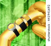 multiple smart watches showing... | Shutterstock . vector #441941692