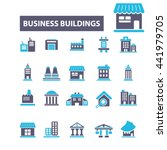 business buildings icons | Shutterstock .eps vector #441979705