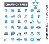 champion prize icons | Shutterstock .eps vector #441980926