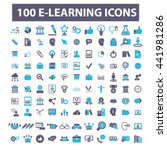 learning icons | Shutterstock .eps vector #441981286