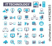 it technology icons   Shutterstock .eps vector #441982855