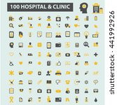 hospital clinic icons | Shutterstock .eps vector #441992926