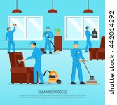 industrial cleaning and... | Shutterstock .eps vector #442014292