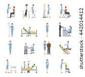 nurse health care decorative... | Shutterstock .eps vector #442014412