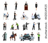 police people in office and... | Shutterstock .eps vector #442014925