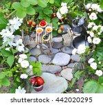 Picnic In The Fairy Garden In...