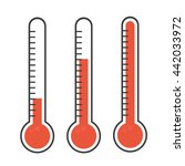 isolated thermometers | Shutterstock .eps vector #442033972