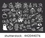 set of halloween doodle | Shutterstock . vector #442044076