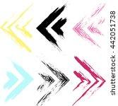 cute seamless pattern. grunge... | Shutterstock . vector #442051738