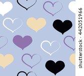 cute seamless pattern. brush... | Shutterstock . vector #442051966
