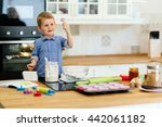 adorable child below the age of ... | Shutterstock . vector #442061182