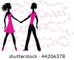 two lovers | Shutterstock . vector #44206378