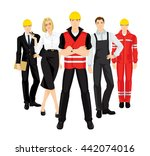group of professional people in ... | Shutterstock .eps vector #442074016