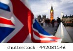 british union jack flag and big ... | Shutterstock . vector #442081546