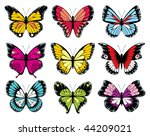butterflies collection | Shutterstock .eps vector #44209021