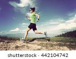 healthy young woman trail... | Shutterstock . vector #442104742