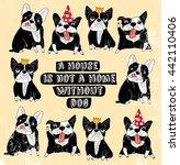 dog french group bulldog... | Shutterstock .eps vector #442110406