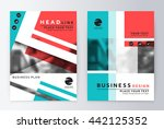 layout design template  annual... | Shutterstock .eps vector #442125352