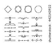 set of hand drawn hipster... | Shutterstock .eps vector #442143922