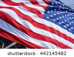 flag of united states.closeup... | Shutterstock . vector #442145482
