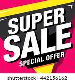 bright vector sale banner   Shutterstock .eps vector #442156162