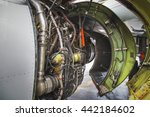 airplane engine side view close ... | Shutterstock . vector #442184602