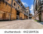 the ruins of the old industrial ... | Shutterstock . vector #442184926
