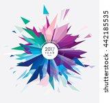 happy new 2017 year vector...   Shutterstock .eps vector #442185535