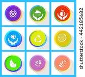 nature set. internet template.... | Shutterstock .eps vector #442185682