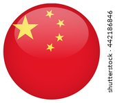 china flag glossy button | Shutterstock .eps vector #442186846